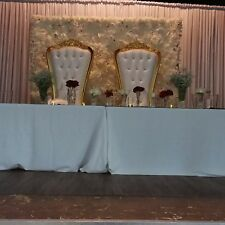Wedding Throne Chairs/Love Lounge/Chair Covers/CentrePiece FOR EVENT DECOR HIRE