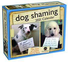 Dog Shaming - 2021 Daily Desk Calendar - Brand New - 857141
