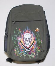 ED HARDY SCHOOL LAPTOP BACKPACK MENS in OLIVE SWORDS CASUAL TRAVEL BAG da7f24169682e