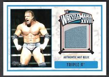 WWE 2012 (Topps) WHITE BORDER AUTHENTIC WRESTLING MAT RELIC Card: TRIPLE H
