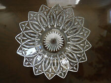 """Clear Pressed Glass Bowl 10"""""""