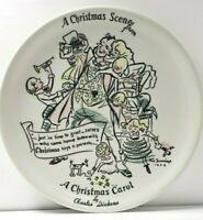 Vintage Christmas Carol Plate Rix Jennings Dickens Christmas Scene 1955  father