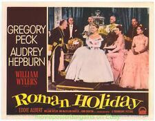 ROMAN HOLIDAY LOBBY CARD 11x14 Size MOVIE POSTER AUDREY HEPBURN N.MINT Card #7