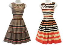 Abbigliamento vintage marrone per donna