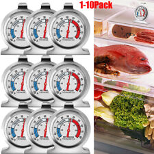 Refrigerator Freezer Thermometer Fridge Dial Type Stainless Steel Hang Stand Lot