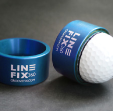 New Groovefix Golf Linefix 360 Ball Marker Marking & Alignment Tool - Blue
