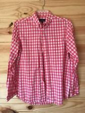 Johnnie O Pink Gingham Size M Medium Mens Button Down Shirt Long Sleeve