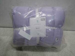 Pottery Barn Kids 5701875 Audrey Quilt, Full Queen, Lavender