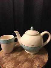 """Rae Dunn Polka Dot """"Pour"""" Teapot & """"Sip"""" Mug Pottery Artisan Collection"""