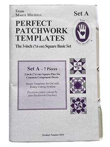 Perfect Patchwork Templates Set A By Marti Michell, 7 Pieces