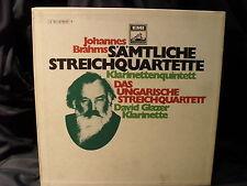 J. Brahms - Sämtliche Streichquartette / Ungarische Streichquartett   3 LP-Box