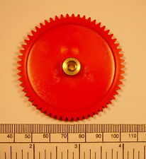 Gear - brass hub 4mm bore 58 teeth - with grub screw