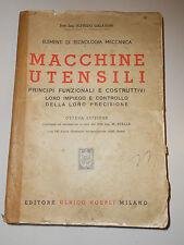 215E - MACCHINE UTENSILI HOEPLI 1945