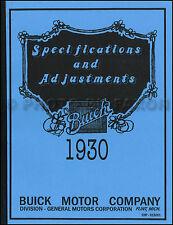 1930 Buick Manual Taller 30 Reparación y Mantenimiento Libro For All Modelos 40