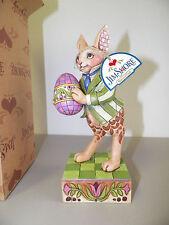 "Jim Shore Enesco Colorful Delights Rabbit With Eggs Figure Nib Qvc 8"" 2006"