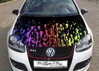 Color Drops Car Bonnet Wrap Decal Full Color Graphics Vinyl Sticker #195