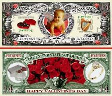 ST VALENTIN ! BILLET 1 MILLION DOLLAR US ! Collection AMOUR Ange Cupidon love