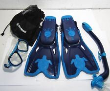 Us Divers Snorkeling Set Youth Size 1-4 M Navy & Blue
