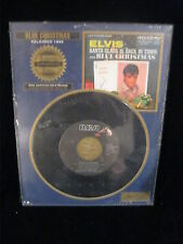 ELVIS SANTA CLAUS IS COMING TO TOWN & BLUE CHRISTMAS 45 WITH ELVIS' SIGNATURE