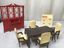 Vintage Tin Dollhouse Furniture (Dinning)