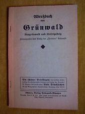 """""""Adreßbuch von Grünwald, Neugrünwald und Geiselgasteig"""" von Schwarz (1936/1937)"""