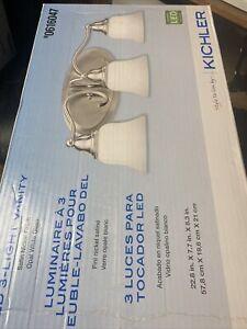 Kichler LED 3-Light Vanity Satin Nickel 0616047