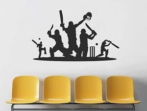 Cricket Wall Sticker | Sport Wall Art Stickers