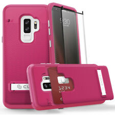 For SAMSUNG GALAXY S9 PLUS Phase Series by Click Case + Glass Film Screen - Pink
