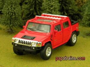 Die Cast Red 2005 Hummer H2 SUT O Scale 1:40 By Kinsmart