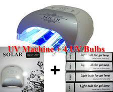 UV Machine + 4 UV Bulbs + Timer Lamp Nail Polish Gel Dryer Curing Light 36W