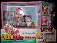 MOOSE TWOZIES TWO-COOL ICE CREAM CART with 4 EXCLUSIVE TWOZIES 2 BABIES+ 2 PETS