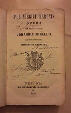PUB. VIRGILII MARONIS OPERA CUM ADNOTATIONIBUS JOHANNIS MINELLI 1859