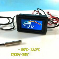 DC 5V-25V Thermometer Temperature Display+ 1m Metal Detector For Computer