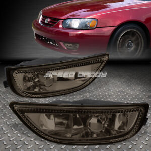 FOR 01-02 TOYOTA COROLLA SMOKED LENS FACTORY STYLE BUMPER DRIVING FOG LIGHT LAMP