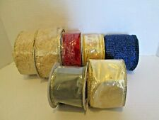 Large Lot Mixed Wire Edged Ribbon + Stretch Netting Ribbon 80+ Yards Total #2