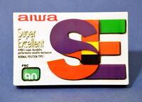 1 x AIWA SE 90   CASSETTE KASSETTE IEC I  OVP