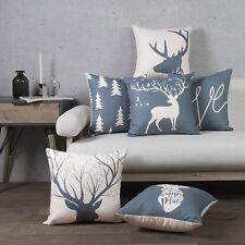 Scandinavian elk deer bird I LOVE you words Cushion Cover sofa throw pillow Case