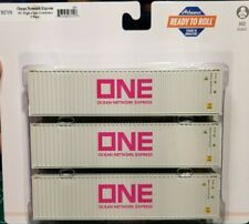 Athearn ONE Ocean Network Express 40' Hi-Cube Containers