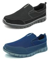 Mens Boys Lightweight Shoes Slip On Mesh Trainers Pumps Memory Foam Size 3-12