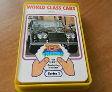 VINTAGE DUBREQ TOP TRUMPS CARD GAME- WORLD CLASS CARS (SERIES 2)