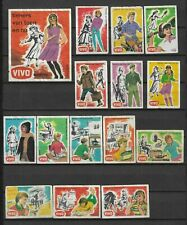 MATCHBOX LABELS-HOLLAND. Teenagers past and present, set of 25 + packet,1966