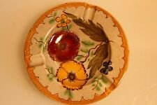 Antique Ceramic Ash Tray Beautifully Hand Painted Floral Pattern From Holland