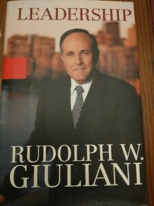"FIRST EDITION 2002 SIGNED RUDOLF W. GUILIANI ""LEADERSHIP"" BOOK NEVER READ!"