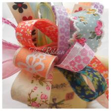 Grab a Bag Flower Printed Ribbon Bundle 8 X 1Mtr Pack 10mm - 25mm 8 x 1 Metre