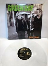 """Green Day WARNING LP 12"""" record colored WHITE VINYL 2006 repo punk rock MINT-"""