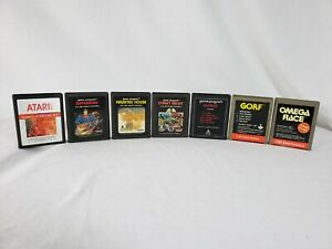 Atari 2600 Game Cartridge LOT (x7) SUPERMAN, OMEGA RACE, GORF & MORE Working (C)