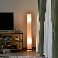 HOMCOM Tall Floor Lamp w/ Shade Wooden Base Fabric Linen 120cm Cream White