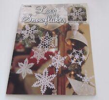 Lacy Snowflakes, Leisure Arts Christmas Decor Crochet Pattern Booklet 3647 RARE