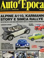 Auto d'Epoca 2020 1 (425.Alpine A110.Karmann,Simca Rallye,Fiat 600 T-850 T-900 T