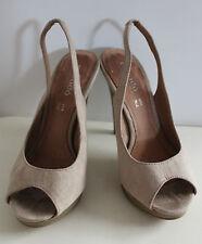 Estrada beige open toe heels women Eur 36 US-Aus 5.5 UK 3.5 Used from Italy